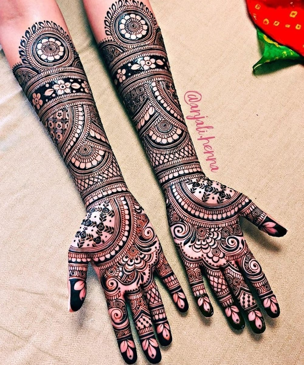 Classic Indian Bridal Mehndi Design