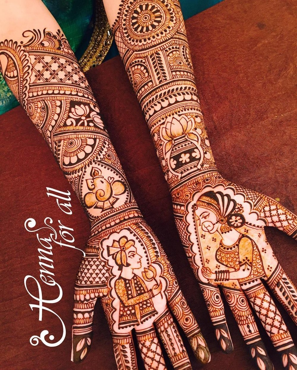 Dulha Dulhan Bridal Mehandi Design