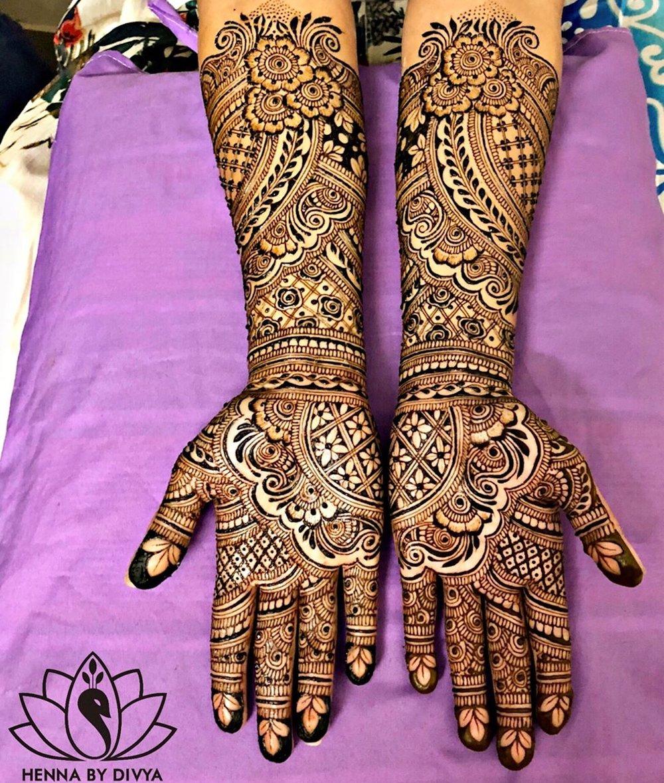 Full Hand Floral Mehandi Design
