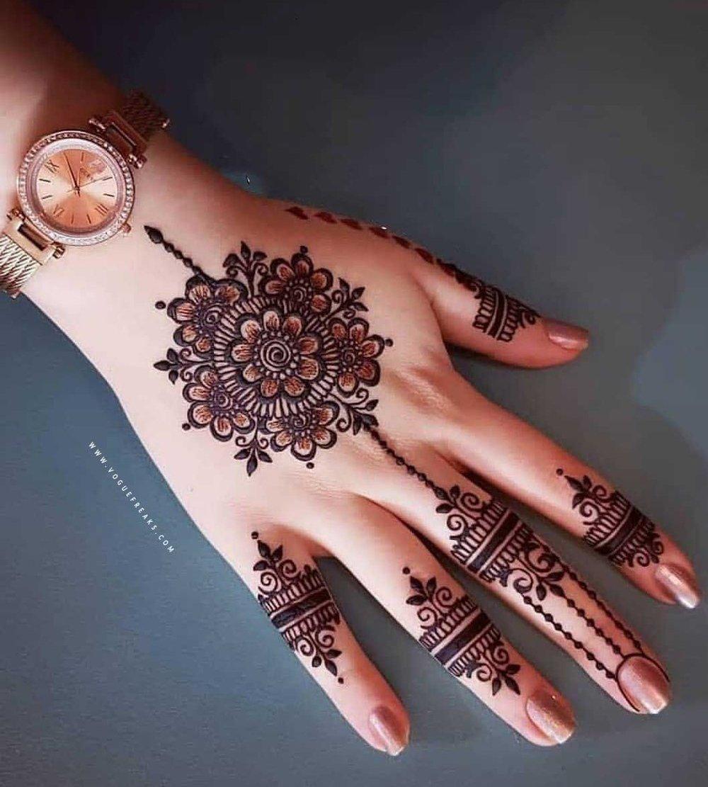 Jewelry Inspired Bridal Mehndi Design