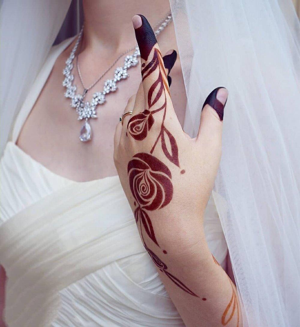 Leafy Bridal Mehndi Design with Motifs