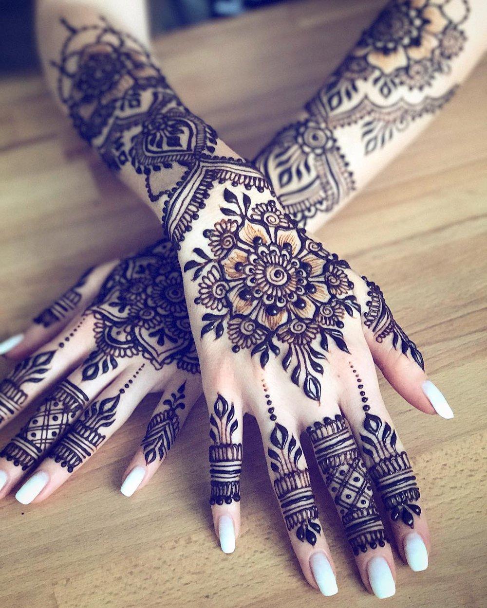 Stunning Henna Mehndi Design on Back of Hand