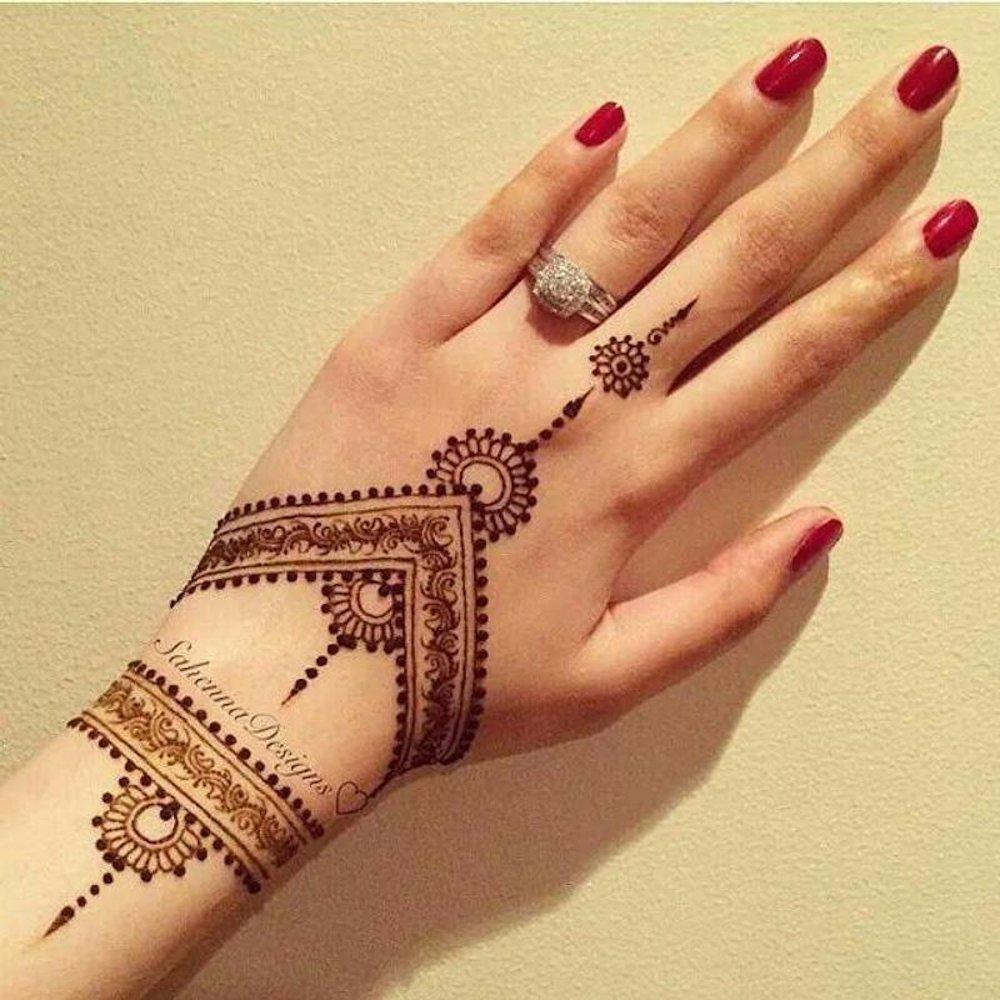 Triangle Pattern Henna Mehandi Design