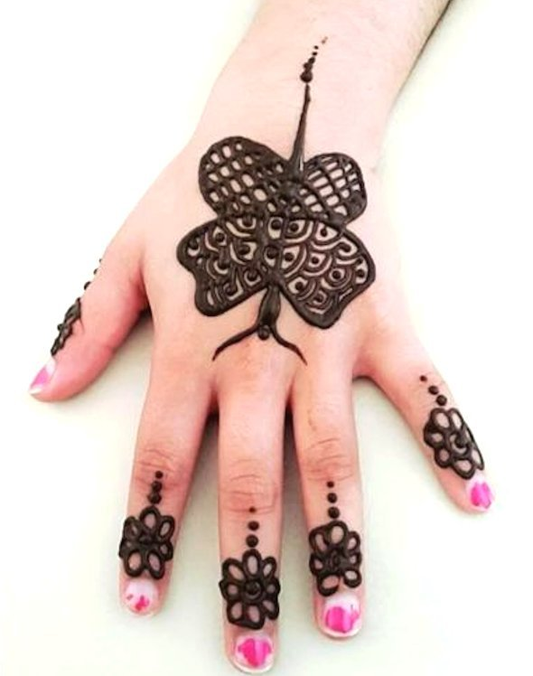 butterfly mehndi designs for kids back hand