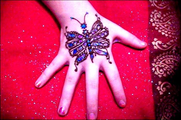 butterfly mehandi designs for kids