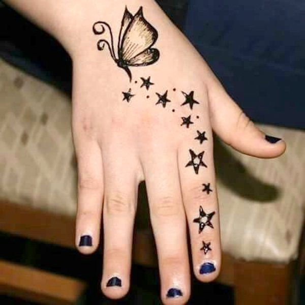 Easy Henna Designs For Kids: Top #101 Cartoon & Simple Mehndi Designs For Kids: They