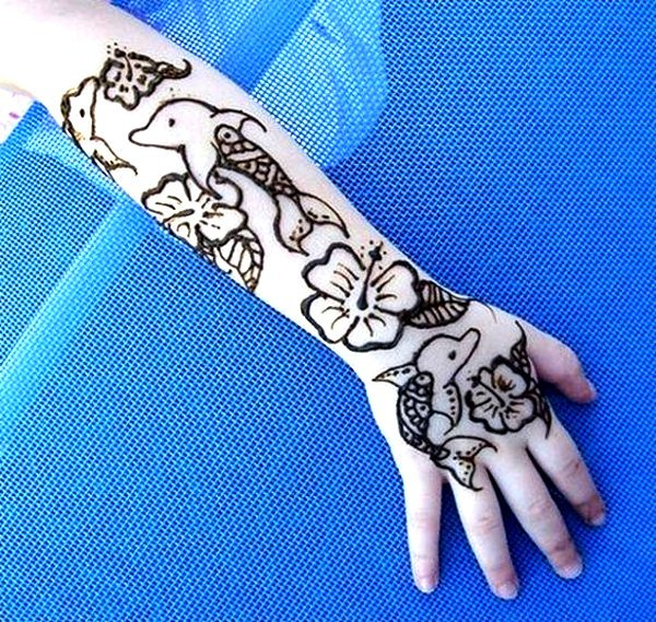Dolphin mehndi designs for kids