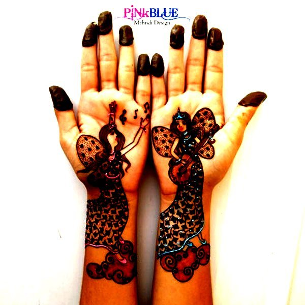Colourful Henna And Mehndi Designs For Kids