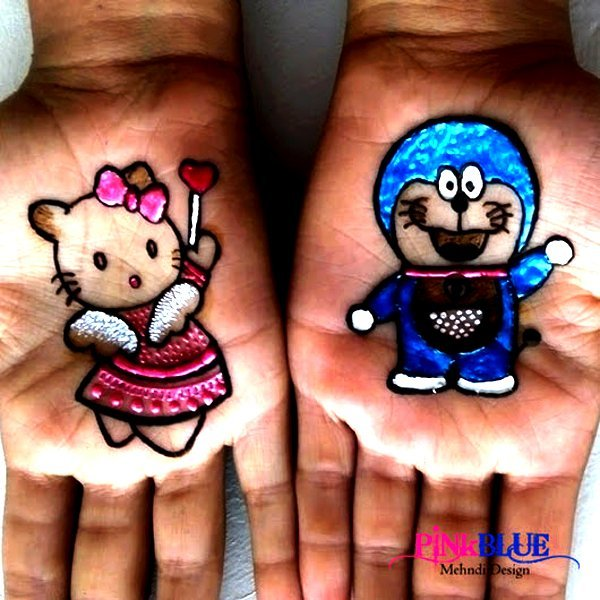 Cute Colourful Mehndi Designs For Kids