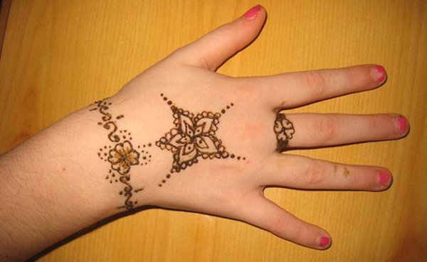 Simple Mehndi Designs photos For kids