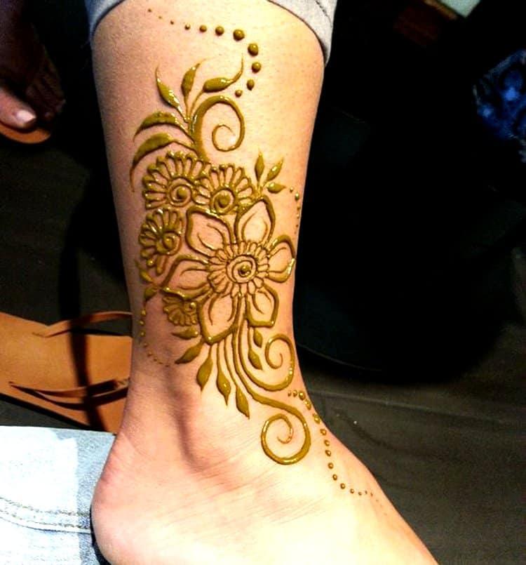 Anklet Feet mehndi design