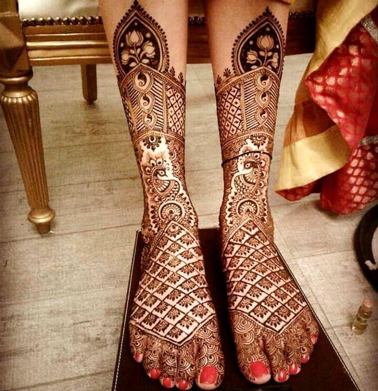 Jaali mehndi designs for bridal