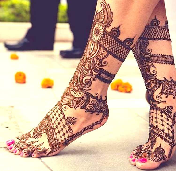 mehndi designs for legs