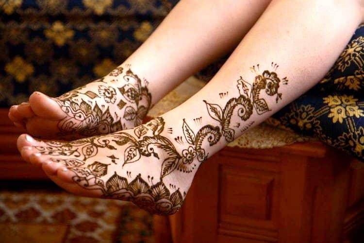 wedding mehndi designs for leg