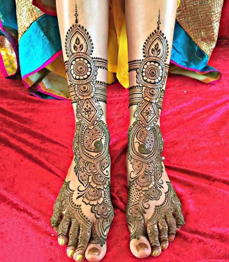 Traditional Feet mehndi designs