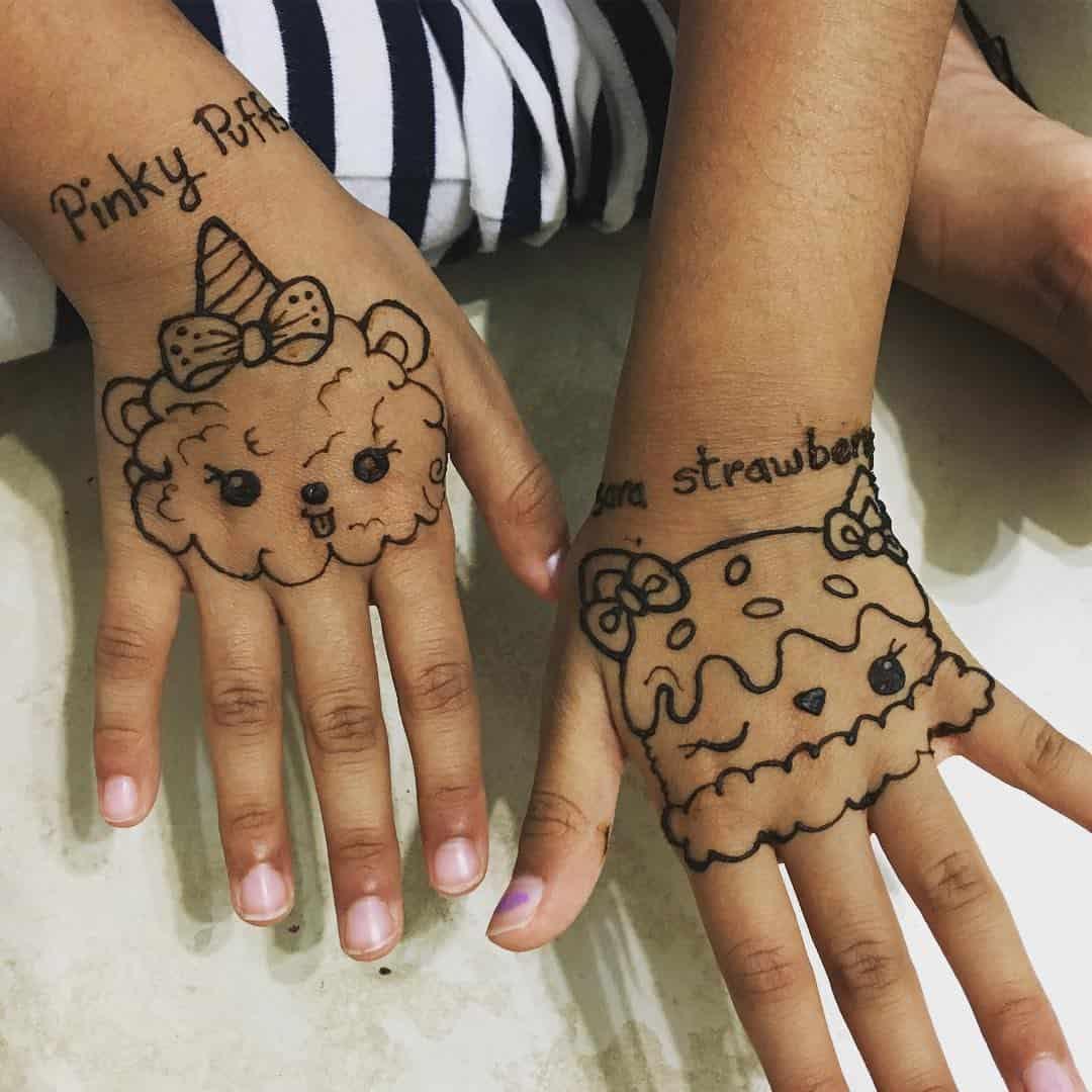 mehndi designs for kids easy