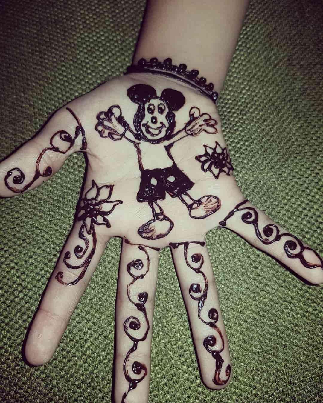 mehandi designs for kids easy