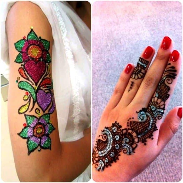 Colorful Mehndi Design tattoo