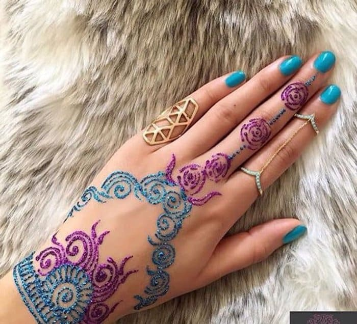 colorful mehandi designs for hands
