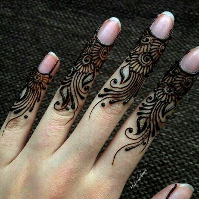 mehndi designs for finger