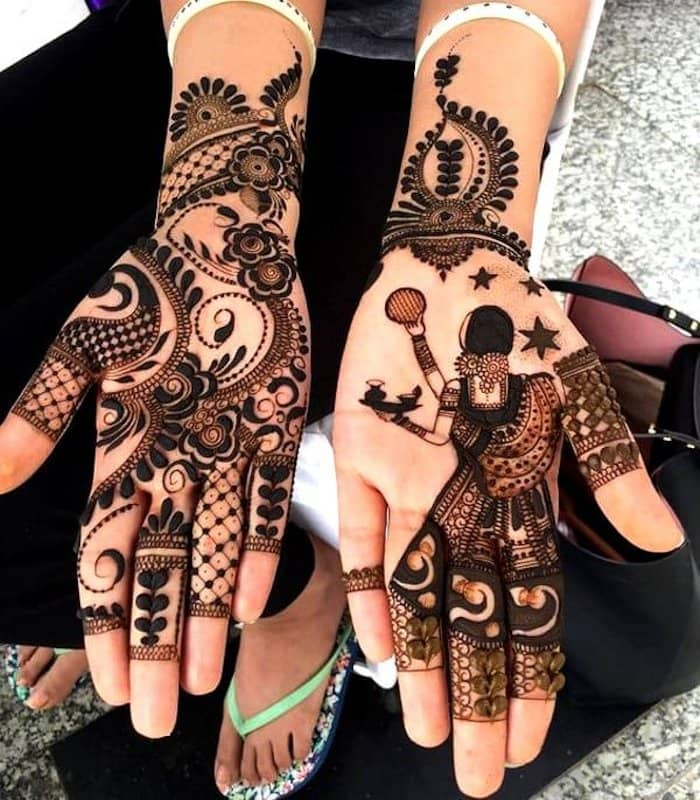 Easy karva Chauth Mehndi Designs
