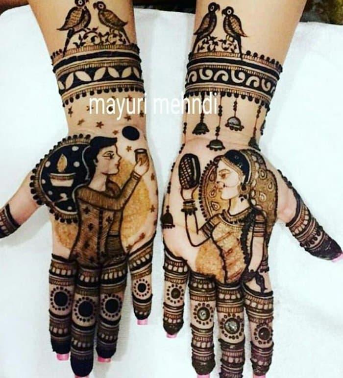 karva chauth mehndi designs full hand