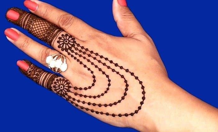 Necklace Henna Designs
