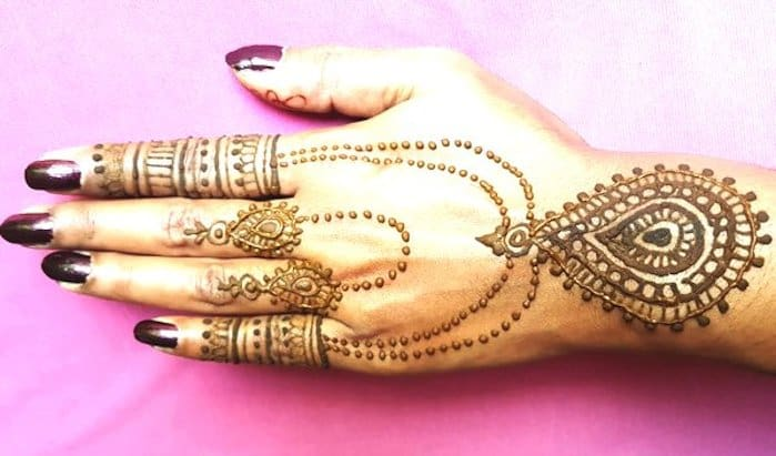 Necklace Mehndi Design latest image