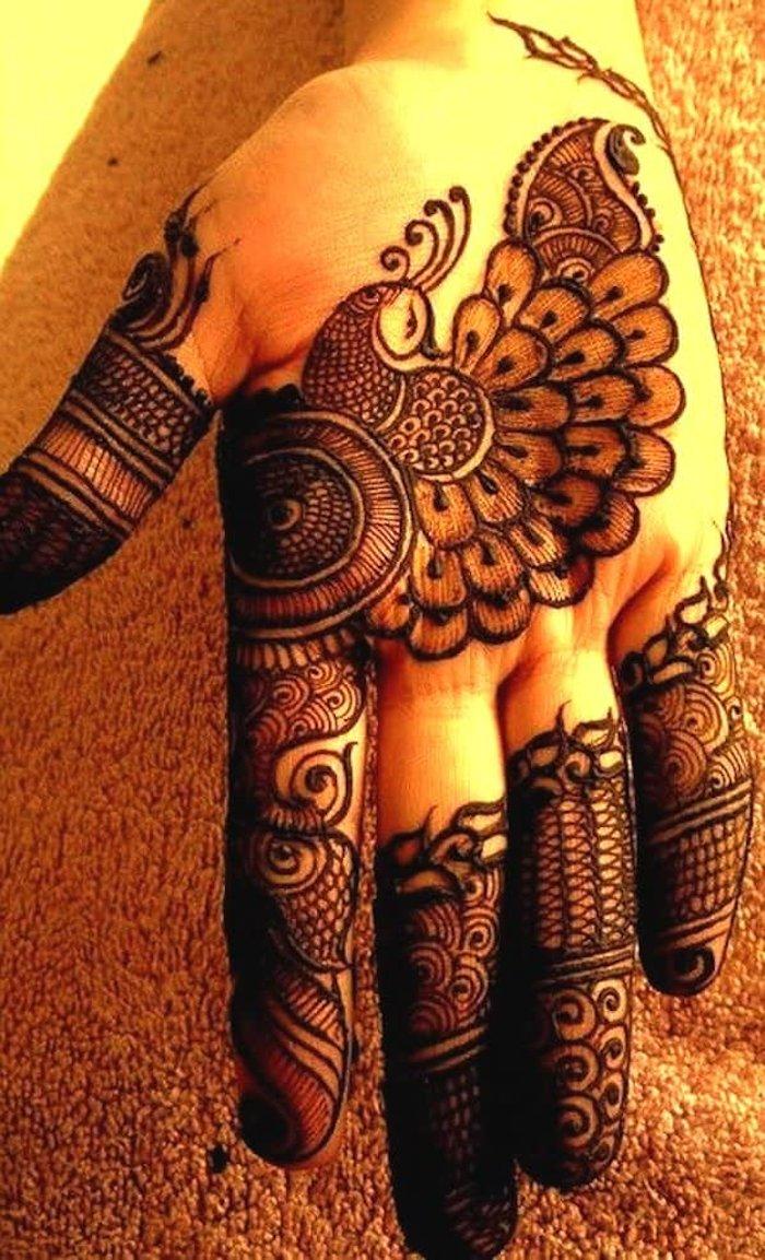 peacock mehndi designs for hands
