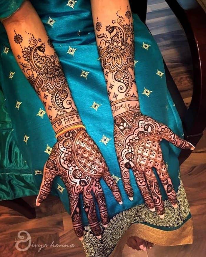 peacock mehndi designs for full hands