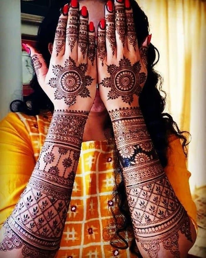Mandalas have a spiritual connection in Hinduism and is a loved henna tattoo.