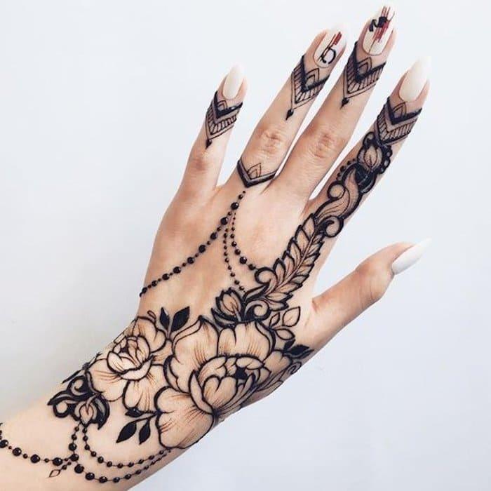 mehndi leaves paste designs