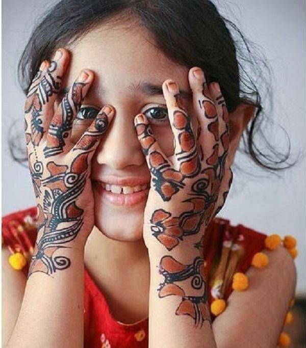 latest mehandi designs for kids