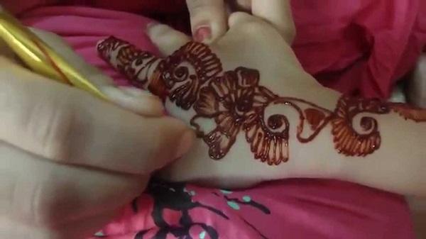 indian mehndi designs for kids