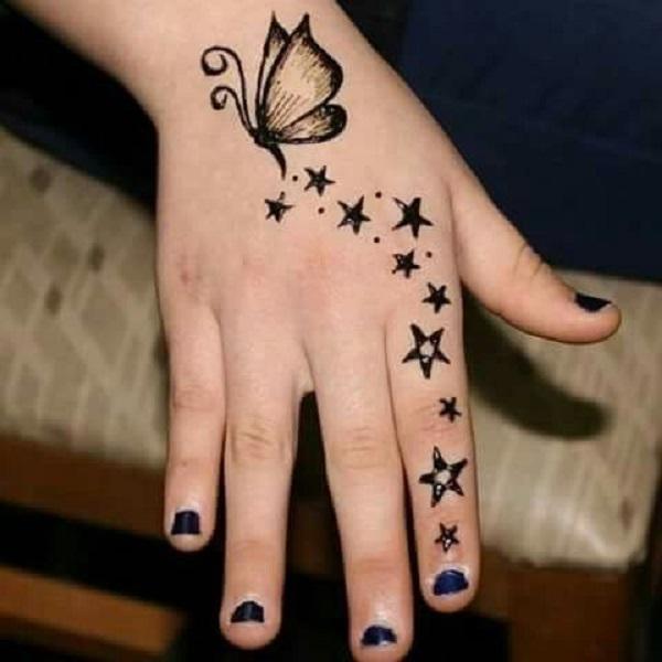 twinkle stars mehndi designs