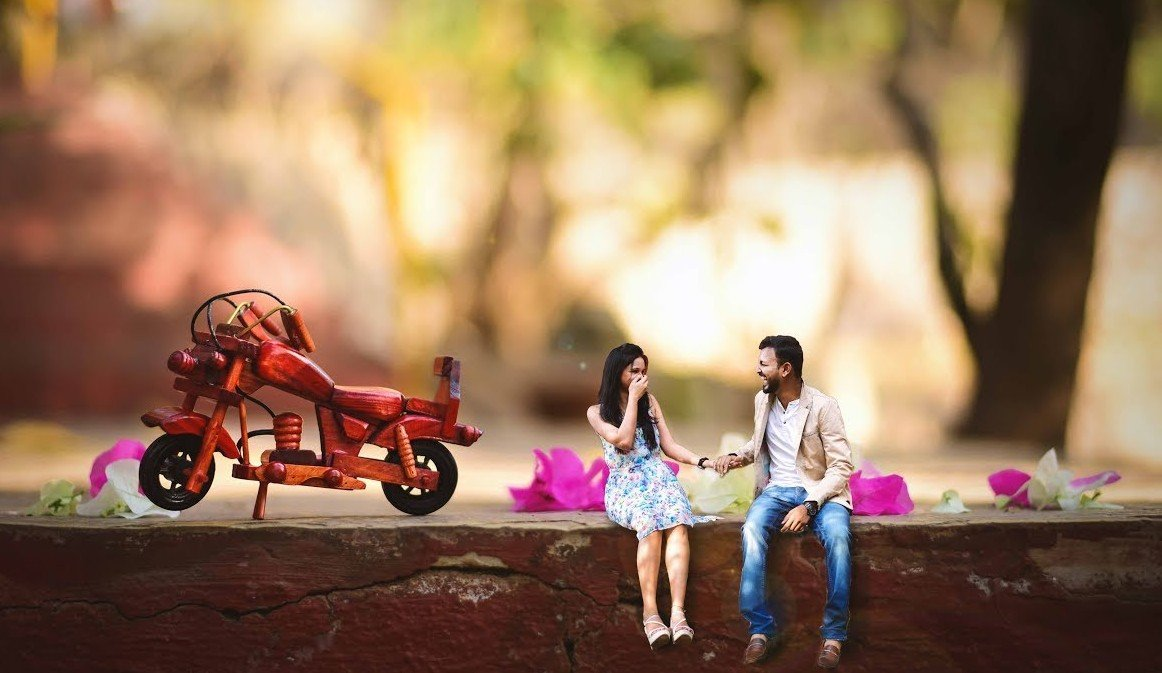 miniature pre wedding shoot photos