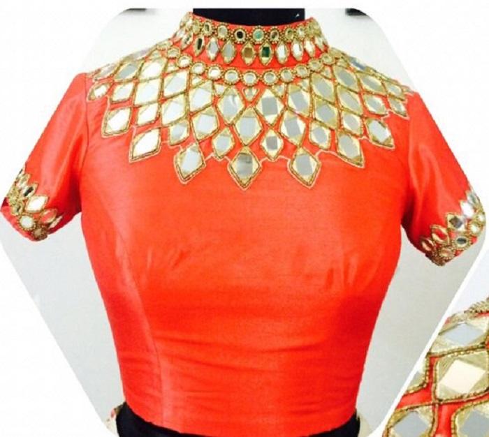 full neck blouse design