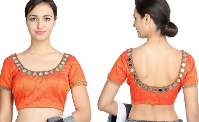 Stand Color Blouse Designs : Simple beautiful mirror work blouse designs latest designs
