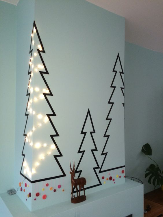 mesmerizing washi tape christmas decor idea