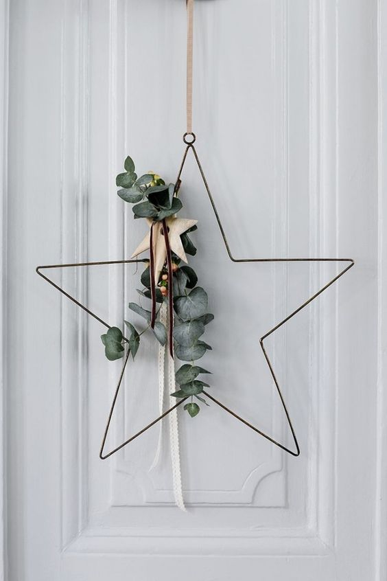 Amazing Wire made star shaped wreath for christmas decoration
