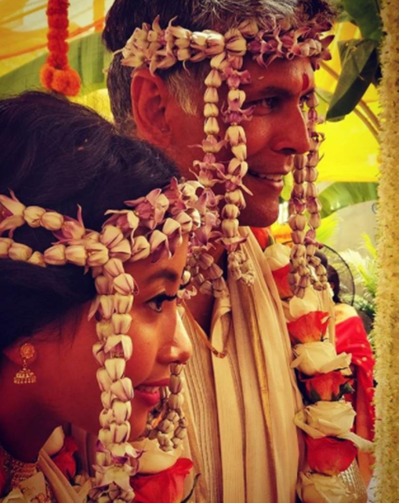 milind sonam and ankita wedding 2018