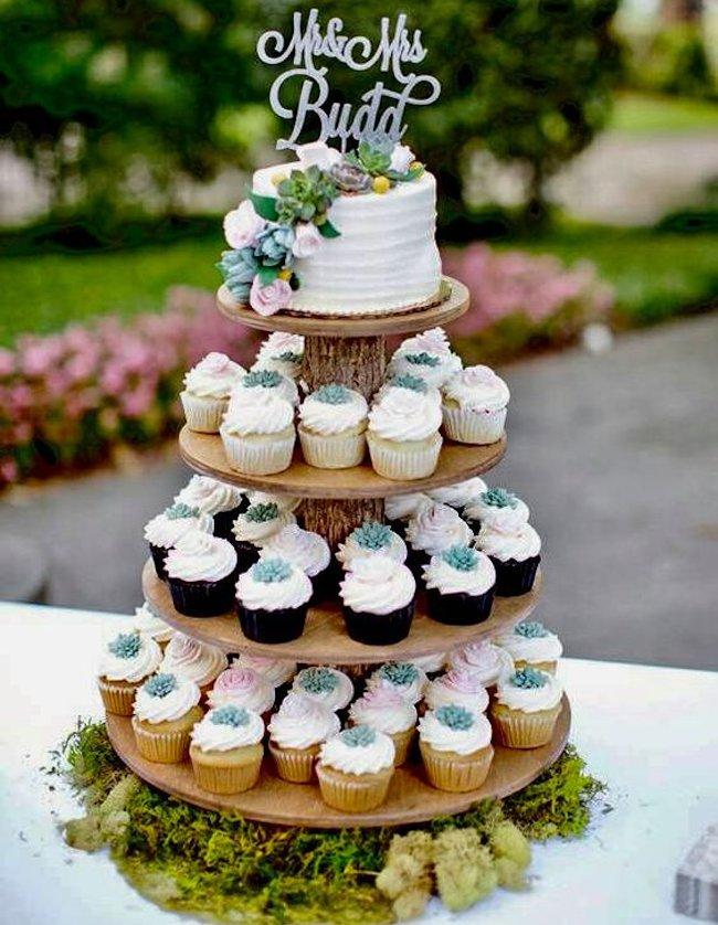 wedding cupcake-cake
