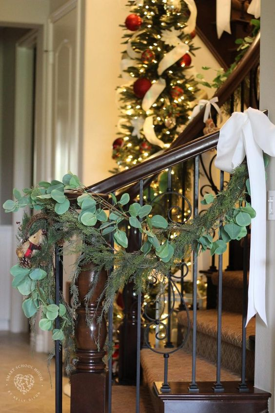 charming eucalyptus garland for christmas decoration