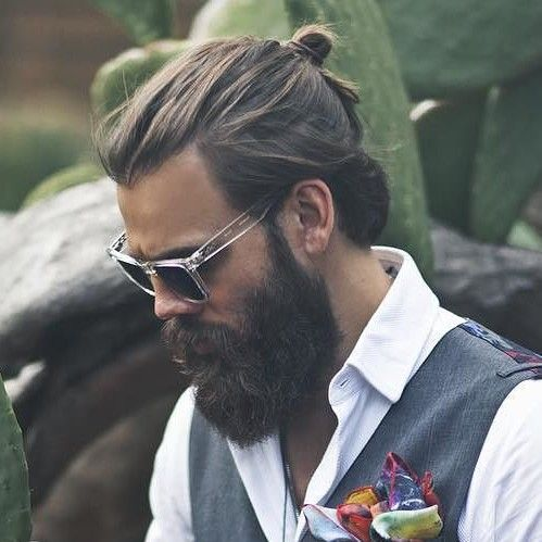 topknot hairstyle for men to consider
