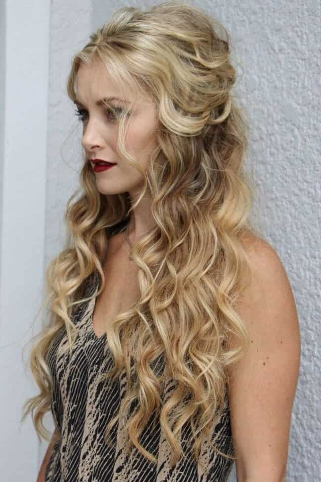 Bumped Up Curls - easy up hairstyles for long hair