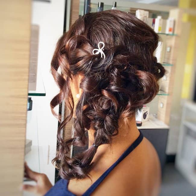 Bumped Up Curls - easy wedding hairstyle for short hair