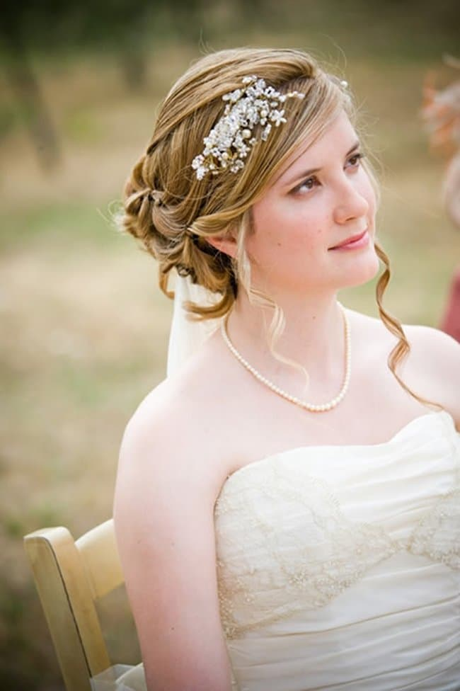 Criss cross wedding hairstyles for medium length hair