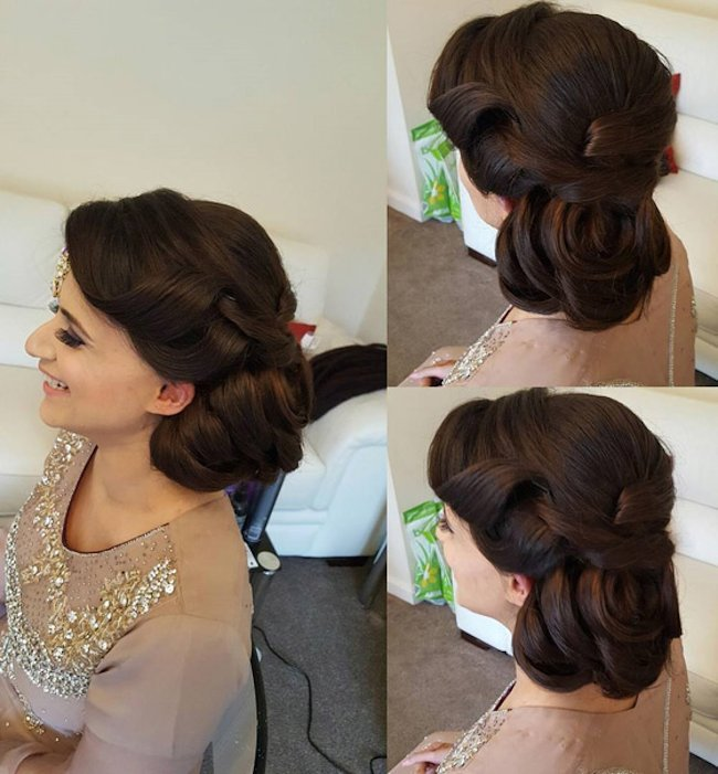 wedding flower hair style for long hair