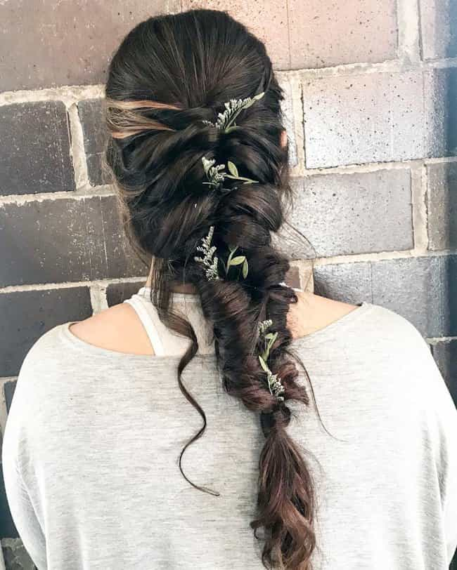 wedding party hairstyles for bridal