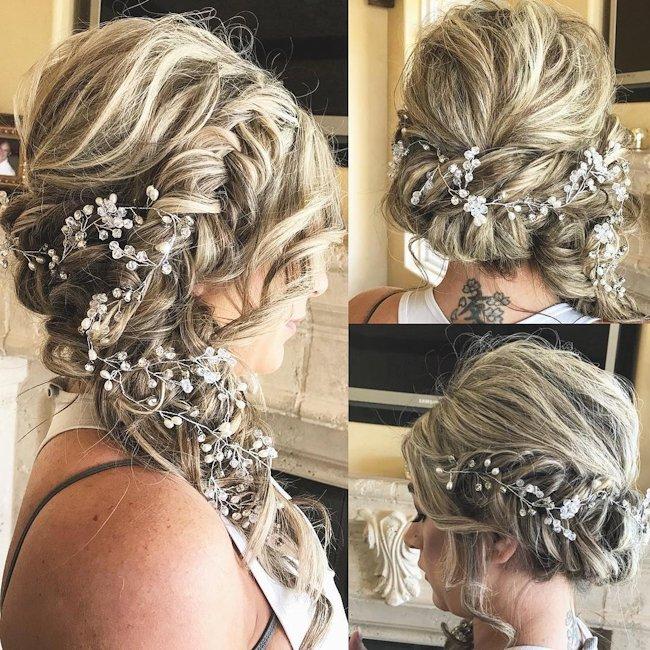 bridesmaid hair accessories for short hair